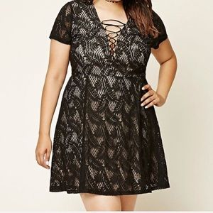 Black lace overlay party dress, forever 21